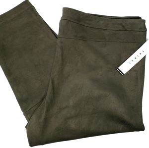 Tribal Faux Suede Pants Green Size XXL New